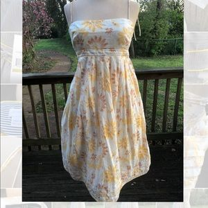 Sweet yellow and white floral GAP summer dress